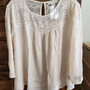 NWOT - FOREVER 21 Boho lace top blouse